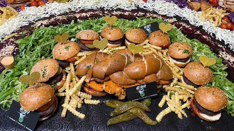 שולחן שוק המבורגר
